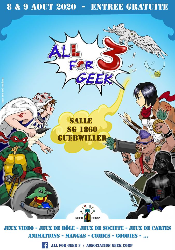 [ÉVÉNEMENT] – Annulé – Convention All For Geek 3